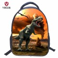 VIIGER Dinosaur Jurassic Park Nylon Children School Bags Backpack Women Printing Backpacks for Teenage Girls Kids Boy Waterproof