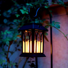 Solar Power Waterproof LED Candle Light Outdoor Garden Lawn Path Street Hanging Lantern Lamp SDF-SHIP
