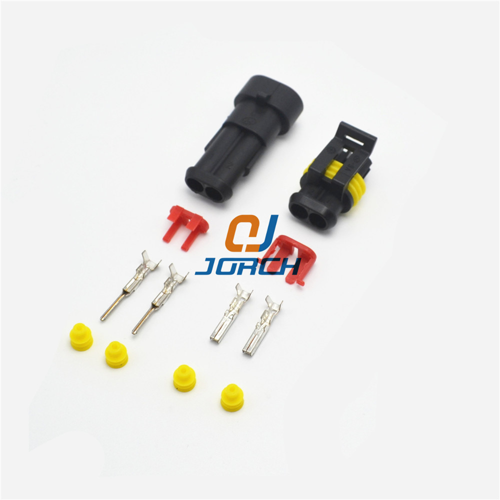 2 Pin Way Sealed Waterproof Electrical Wire Connector Plug Set male female 282080-1 282104-1 with auto connectors pins ev1 fuel injector 2 pin way electrical wire connector plug automobile connectors suitable for eberspacher
