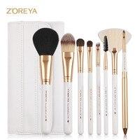 ZOREYA 2017 Professinal Makeup Brush Set 7pcs Classic Soft Synthetic With Leather Bag Cosmetic Makeup Powder