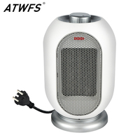 ATWFS Home Heater with Fan Portable Handy ECO Watt Hand Room Outdoor Space PTC Warmer Electric Thermostat Heating 1200W
