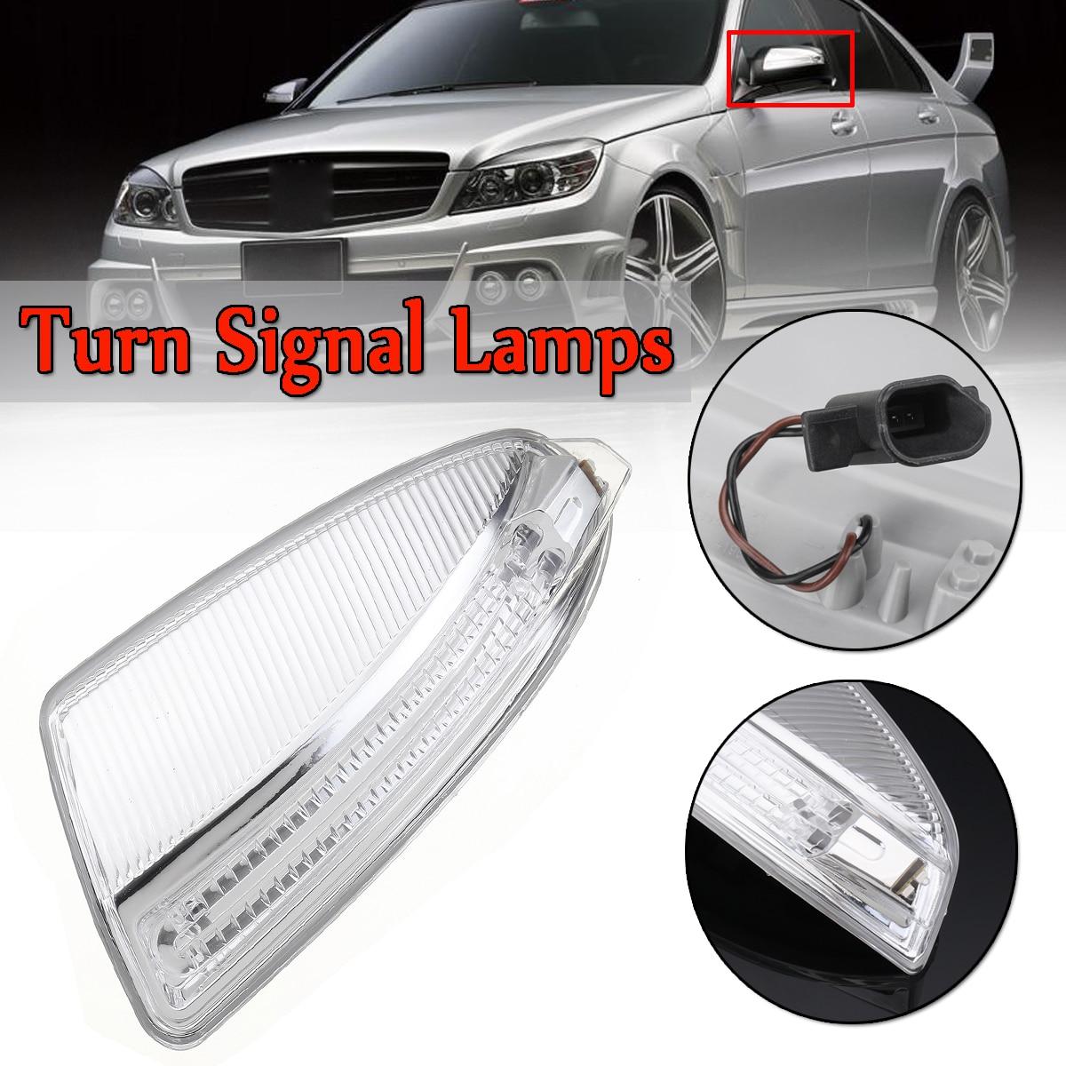 Door Rearview Mirror Turn Signal Lamps Lights Auto For MercedesFor Benz ML  Class W164 ML300 ML500 ML550 C-Class W204 Left/Right