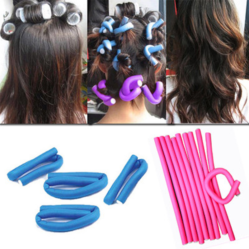 30pcs Soft Foam Sponge Hair Curling Rollers Curler Bendy