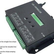 H803SA; 8 портов off-line/Автономный/SD карты/полноцветный светодиодный контроллер пикселей; 8192 пикселей, можно подключить DMX консоль, поддержка многих чипы