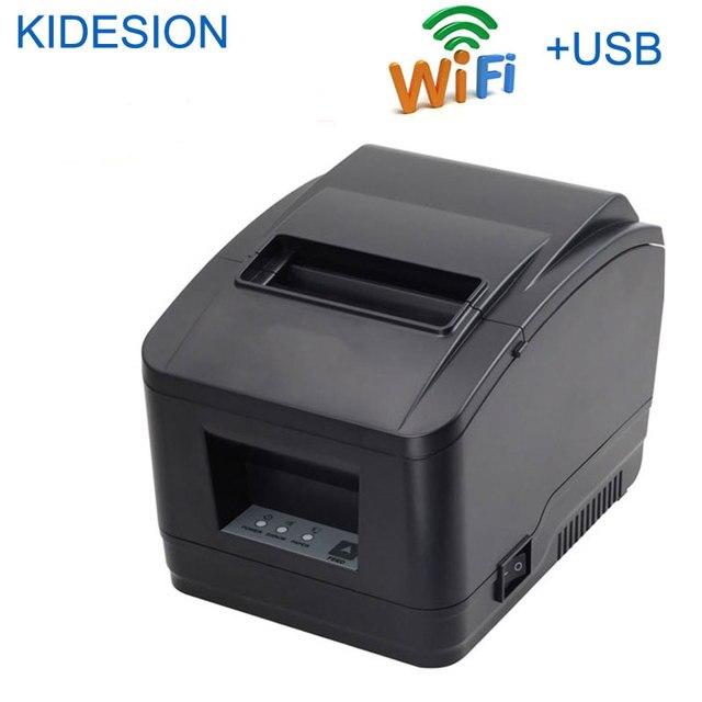 Impresora WIFI POS de alta calidad, 80mm, impresora de recibos automática, wifi + interfaz usb para supermercado, tienda de té de la leche