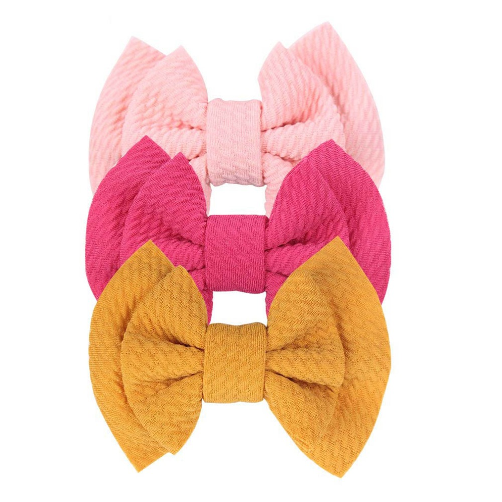 36pc/lot 3.5 Inch Cotton Fabric Bow Hair Clip,Girls Solid Bows Hairpins Buotique Hair Bows Hairgrips Kids Barrettes Headwear