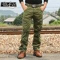 Envío gratis los Nuevos hombres de moda Masculina militar de guerra Especial retro de los hombres holgados pantalones casuales pantalones overoles de algodón lavado