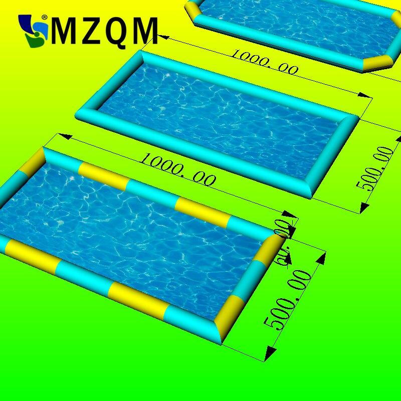 MZQM 10x5 m 0.6 MM bâche PVC grande piscine gonflable piscine gonflable jouets piscine