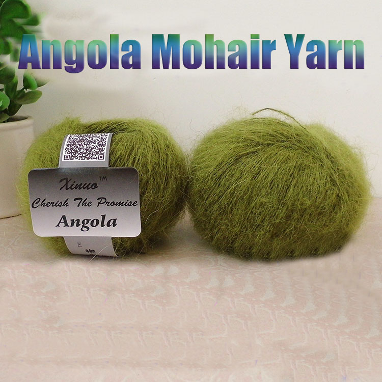 Venta al por mayor 250 g / 10 Bolas de Angora Mohair Hilos Tejidos a mano Lana Iplikler Worsted Sweater Hilo Laine A Hilo de ganchillo Tricoter