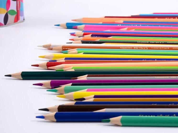 Qiao Mi 24 couleurs/crayons de couleur en bouteille avec taille-crayon pour enfants étudiants cadeau bricolage dessin Graffiti croquis école