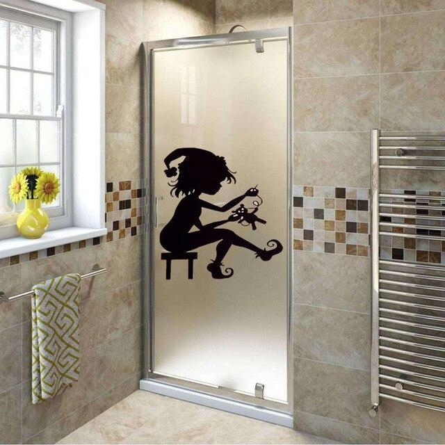 Aliexpresscom  Buy Cute Girl Vinyl Decals Stickers Glass - Vinyl stickers for glass