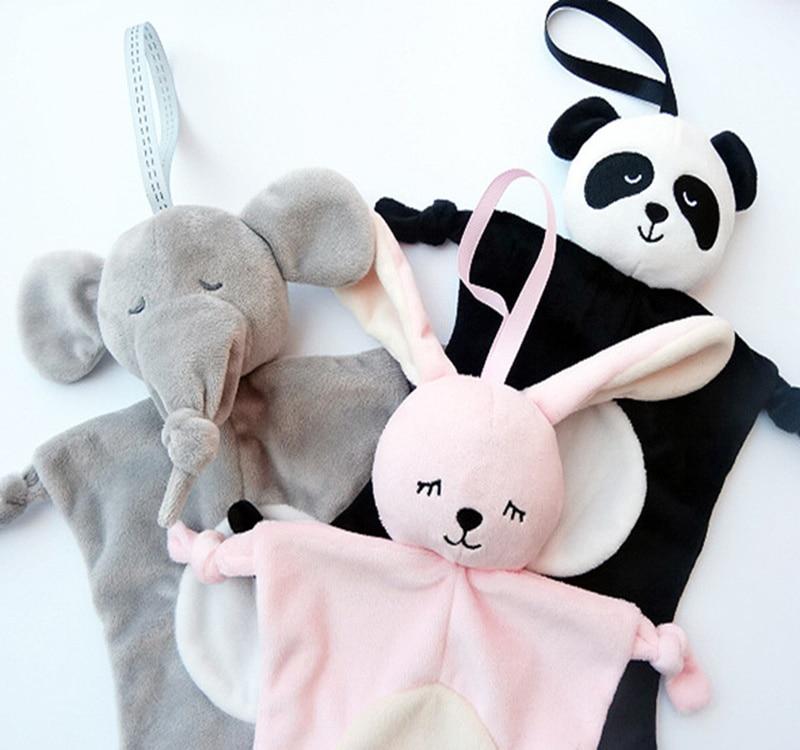 Newborn Toddler Baby Soothing Towel Baby Toys Animal Rabbit Monkey Panda Infant Baby Soft Soothe Towel Educational Plush Toys