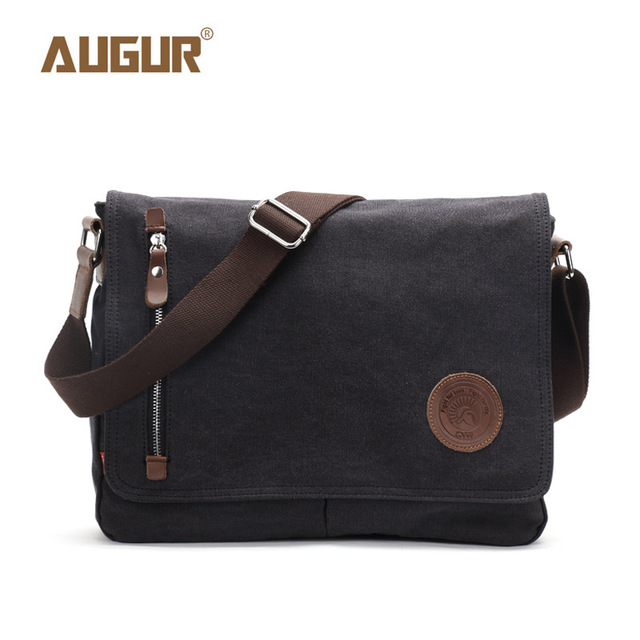 Canvas Leather Crossbody Bag Men Military Army Vintage Messenger Bags Shoulder Bag Casual Travel Bags 1