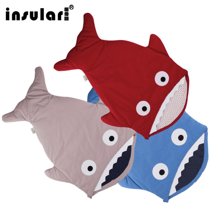 Fuss Shipping Cute Carton Shark Winter Newborn Sleeping Bags Sack Warm Baby Blanket Warm Swaddle arashi radiator grill oil cooler grille guard protector protective cover for bmw s1000rr s1000xr s1000r hp4