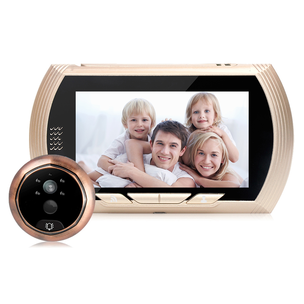 HD 4.3 Inch WIFI Motion Detect Peephole Infrared Night Vision Camera Video Doorbell Alarm Smart Digital Door Viewer Cameras