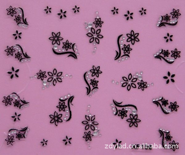 Водонепроникний Води Передачі Нігтів Наклейки мода 3D квітковий дизайн дівчата і жінки манікюр інструменти Нігтів Обгортання Наклейки XF156
