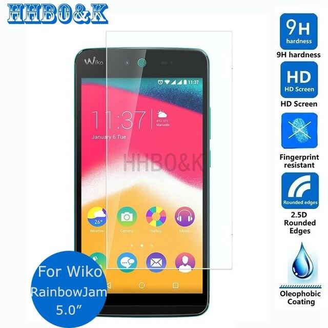 Для Wiko Rainbow Jam 4G Загартоване Скло-Екран Протектор 0.3 мм 2.5 D 9 h Безпеки Захисну Плівку на Веселка Jam (5.0
