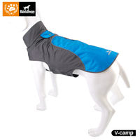 BlackDoggy 3 Color Waterproof Dog Outdoor Reflective Strip Blue Jacket Winter Warm Pets Clothes Breathable Plus
