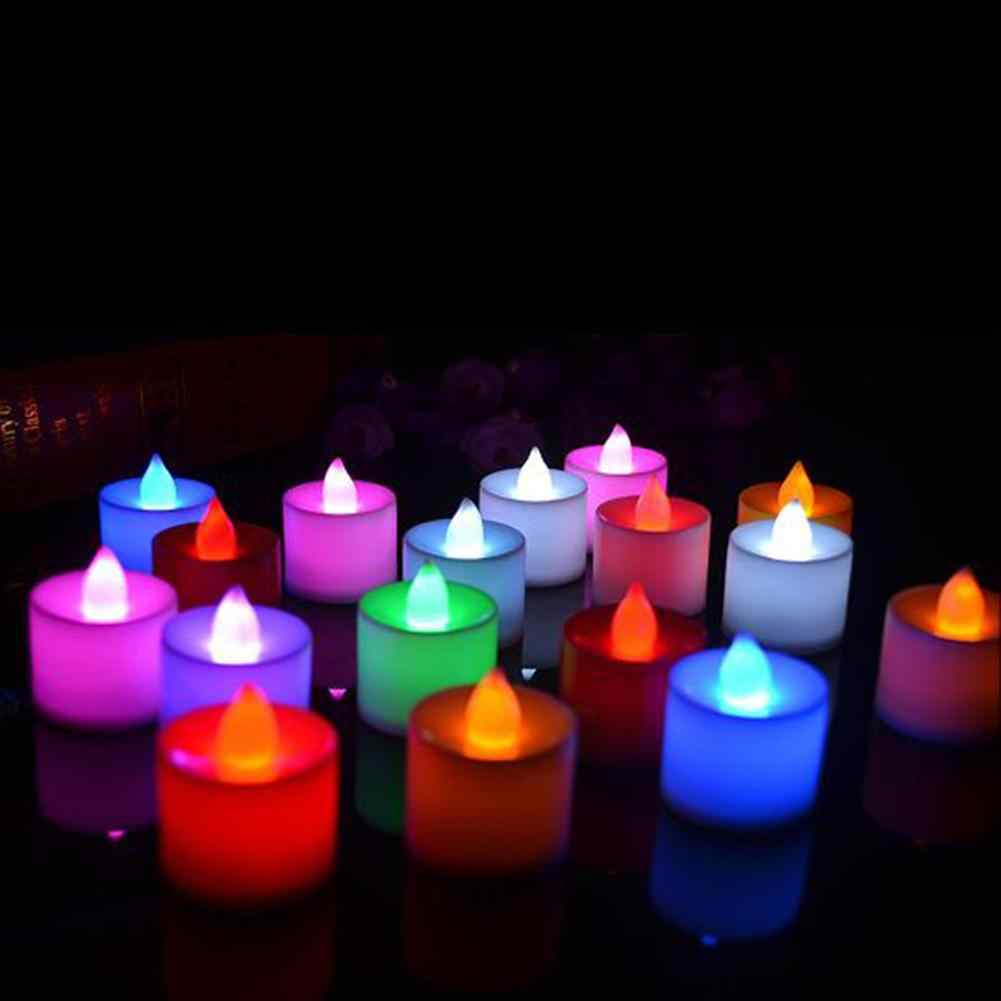 LED Flameless Candle Battery Operated Party Wedding Flickering birthday candle Tealight Decor Decoration Crafts velas home decor