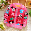 2016 childern clothing outerwear Baby boys girls cartoon winter sweater Baby thick velvet cardigan sweater 0-2 years