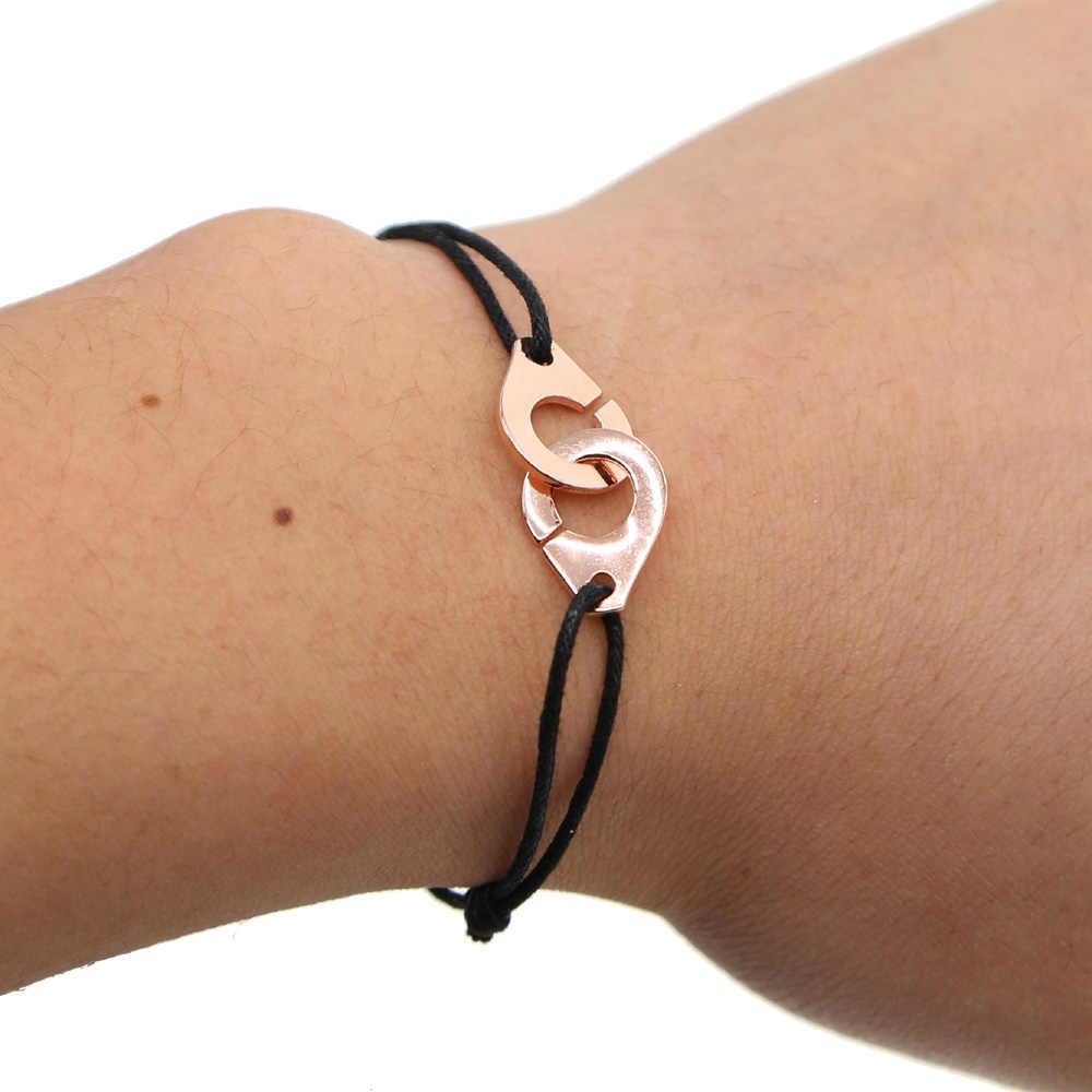 Brand new 925 Sterling srebrny kajdanki bransoletka dla kobiety mężczyźni liny bransoletka ze srebra próby 925 dostosować bransoletka Menottes francja biżuteria