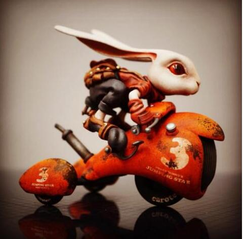 1/12 Lovely Rabbit with Moto (No instructions just have model )Resin figure Model Miniature gk Unassembly Unpainted 1/12 Lovely Rabbit with Moto (No instructions just have model )Resin figure Model Miniature gk Unassembly Unpainted