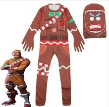 0c891ab7a3fe 2018 Children s Gingerbread Man Skin Character Clown ninjago Skull Trooper  Christmas romper boy clothes drop shipping
