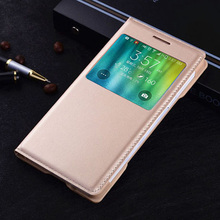 Smart Touch View Shell For Samsung Galaxy A5 2015 Auto Sleep Wake Leather Cases Flip Cover Phone Bag For Samsung Galaxy A5 A500