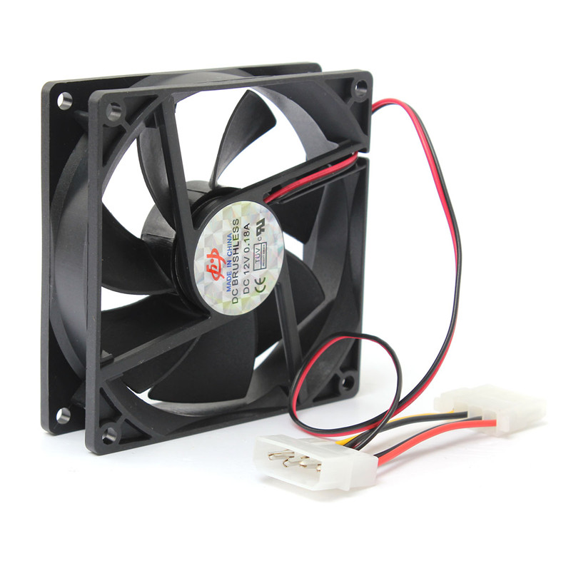 New Arrival 90mm/90x90x25mm Cooler Computer PC CPU Silent Cooling Case Fan Black 12V 4-Pin