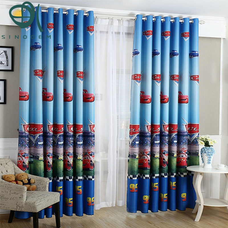 Sinogem Curtains For Home Blue Kids Curtains For Bedroom Window Blackout  Curtains Cartoon Cars Boys Blinds