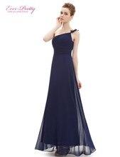 Всегда-милая оборками одно вечернее вечерние шифон плечо длинный цветок платья платье