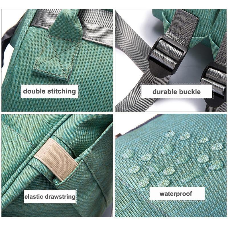 2018 Baby Diaper Bag With USB Interface Large Capacity Waterproof Nappy Bag Kits Mummy Maternity Travel Backpack Nursing Handbag 4
