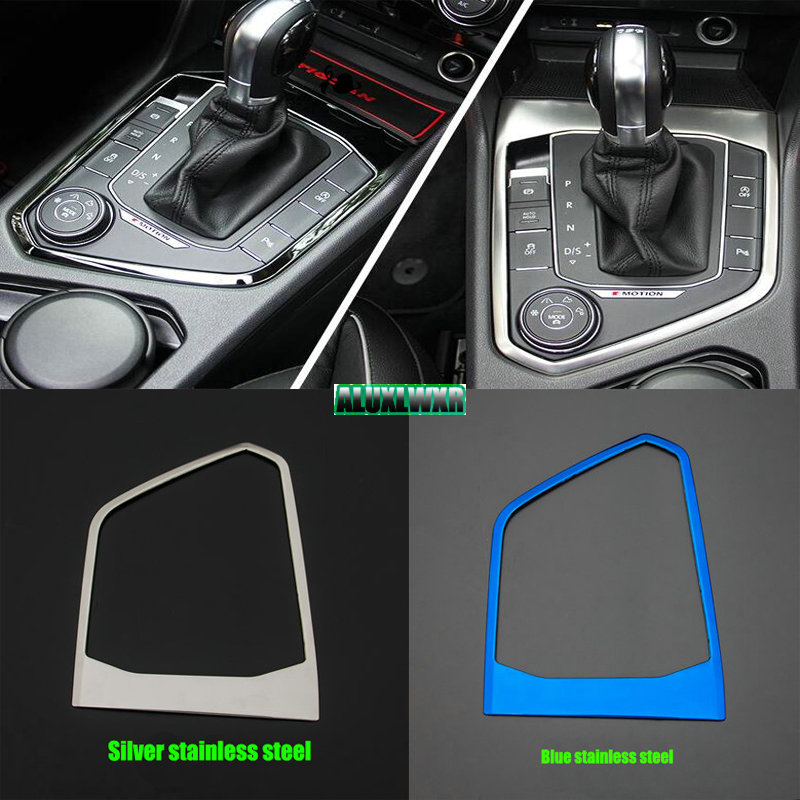 style Stalls Decorative Panel Cover trim Case Sticker car Accessories for Volkswagen VW <font><b>Tiguan</b></font> MK2 2017 2018 <font><b>2019</b></font> image
