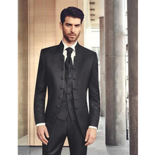 Wedding Mens Suits Slim Fit Bridegroom Tuxedos For Men Three Pieces Groomsmen Pant Suit Notched Lapel