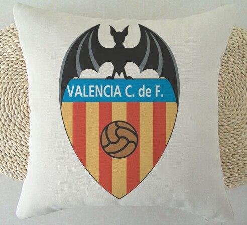 Customized Love Sport Spain football Valencia CF Theme Retro Throw Square Pillowcase Bedding Pillow Slips Two Sides Luxury Print
