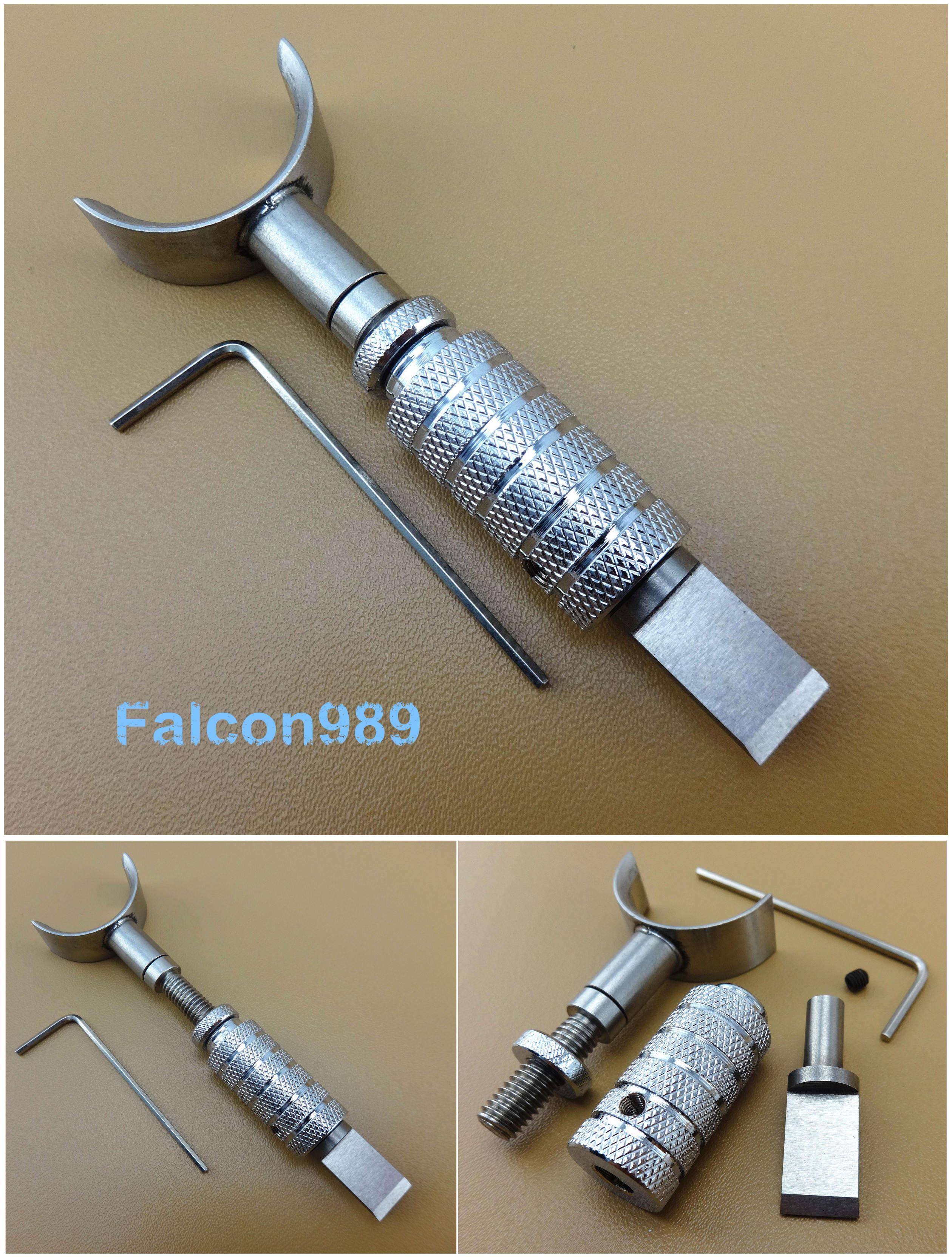 Cuchillo giratorio de cuero herramienta de corte de acero inoxidable resistente al trabajo cuchillo de talla ajustable Cuchillo giratorio de acero inoxidable