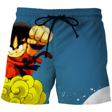 Gragon Ball Z New 3D Shorts Men Strive Kid Goku Fighting 3D Printed Funny Goku Anime Carton Board Shorts Loose Swimwear Men Hot