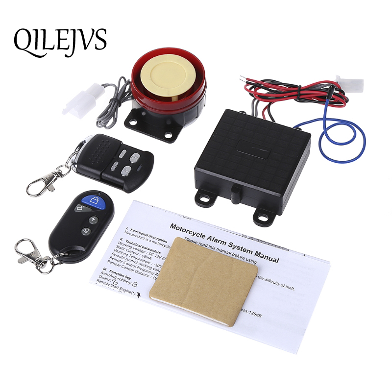 Scooter Car Security Alarm System Remote Control 12V Anti-theft Bike Motorcycle