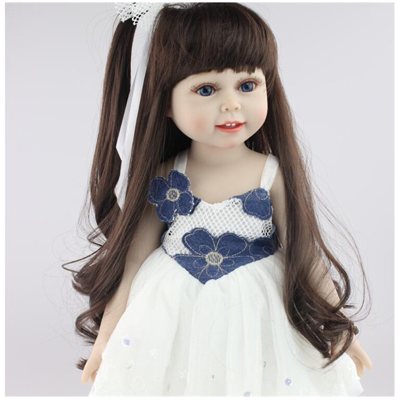 18 Inch Soft American Girl Dolls  Princess Doll,45 cm Lovely Lifelike Baby Toys for Children Present 18 inch soft american girl dolls princess doll 45 cm lovely lifelike baby toys for children present