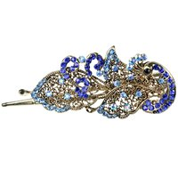 ADW 2017 NEW Crystal Peacock Hair Clips Hairpins - For Hair Clip Beauty Tools
