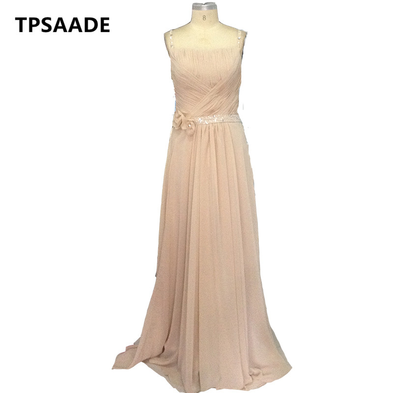 High-quality A-Line robe de soiree Long Evening Dress chiffon Formal vestido champagne Elegant Evening Gowns Cheap Party Dresses