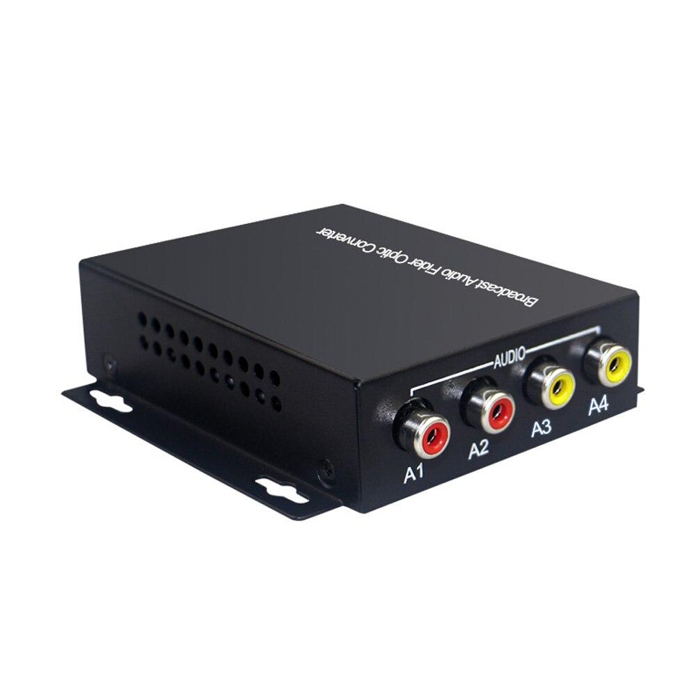 2 transmisor y receptor de Audio sobre FC extensor de fibra óptica (bidireccional), para el Kit de sistema de transmisión de Audio intercomunicador (Tx/Rx) - 3