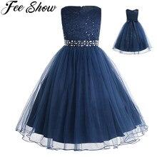 Teen נסיכת שמלת בנות Vestido חתונה תחרה רשת כדור שמלת שמלת 2 14 שנים ילדים של ילדי טוטו יום הולדת מסיבת שמלה