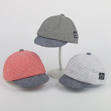 New cute sweet baby hats for 1 year old kids red black striped caps protect from sunshine suitable outdoor travel hat MZ2164