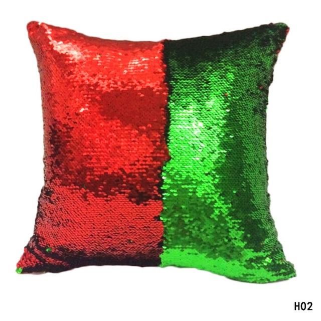 new fashion reversible two colors sequin pillow magical color changing throw pillow cover - Color Changing Pillow