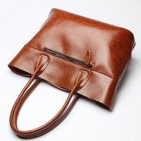 2017 Large Size Genuine Leather Women Handbag Retro Bag Real Leather Luxury Brand Tote Bag Flap