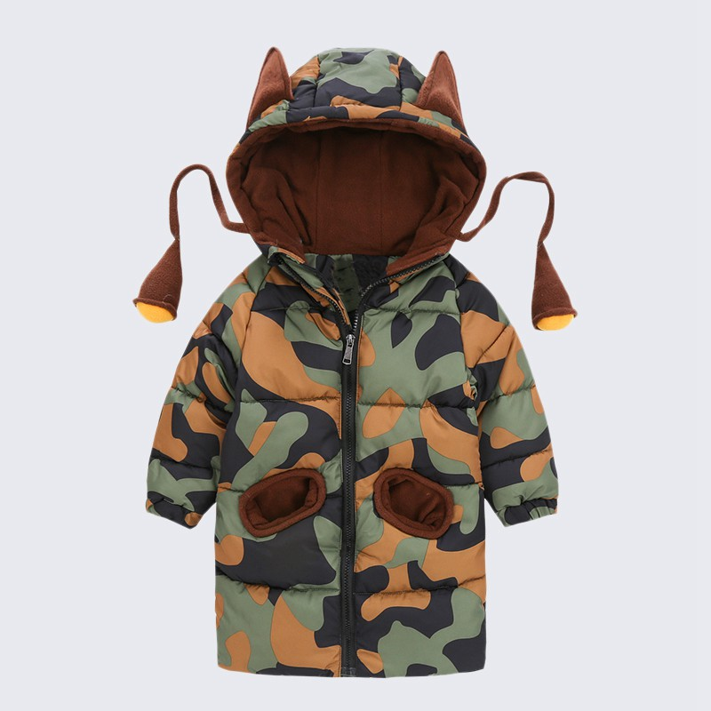 CROAL CHERIE 80-120cm Children`s Winter Jackets For Teenage Girls Warm Winter Parkas For Boys Camouflage Infant Overcoat (3)
