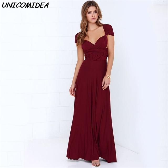 ae407a7cd592 Women Maxi Dress Infinity Multiway Wrap Convertible Long Boho Club Dress  Bandage Party Bridesmaid Robe Longue Vestidos de fiesta