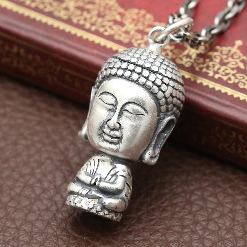 Fatti a mano in argento 990 Vairocana Buddha dellannata del pendente in argento puro Buddha Amuleto del pendente Reale Argento Tibetano Buddha PendenteFatti a mano in argento 990 Vairocana Buddha dellannata del pendente in argento puro Buddha Amuleto del pendente Reale Argento Tibetano Buddha Pendente