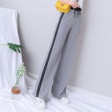 Summer Joggers Women Casual Loose Gray Black Wide Leg Pants Sweatpants Women Running Sport Palazzo Pants Plus Size Wide Pants(China)